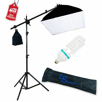 400W Photography Studio Softbox Continuous Soft Box Lighting Boom Arm Stand Kit