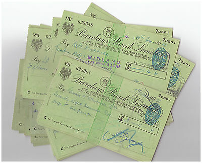 FOUR OLD BARCLAYS BANK CHEQUES ~ St PETER'S BRANCH MANCHESTER 1950s (4)