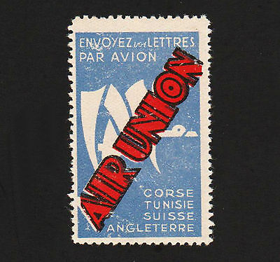 "OPC 1920's Air Union 2"" Poster Stamp Pre Air France Very Light Hinge"