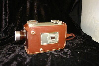 Vintage Brownie Turret 8mm Movie Camera with Leather Case