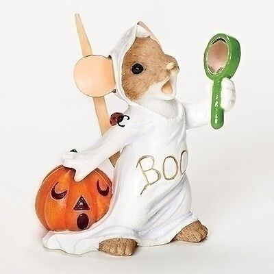 Charming Tails Sometimes I Even Scare Myself Ghost Mouse Halloween Figurine New