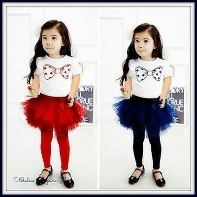 Girls Children Kids Blue Tutu Skirt Party Birthday Occasion Summer Casual Outfit