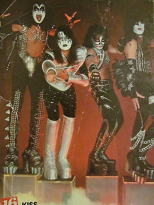 Kiss, Bay City Rollers, Double Full Page Vintage Pinup
