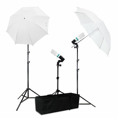 Photography Photo Portrait Studio 600W Day Light Umbrella Lighting Kit EYLS812