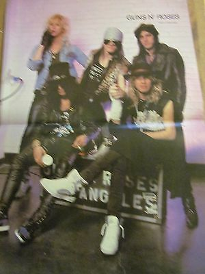Guns N' Roses, Two Page Vintage Centerfold Poster