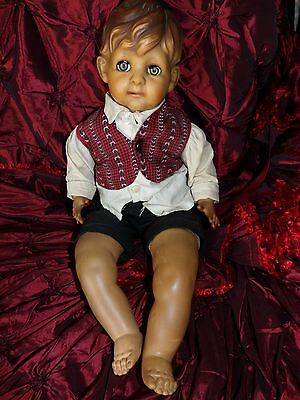 """Vintage 1950s American Character~Doll Molded Painted Hair 18"""" Baby Boy~"""