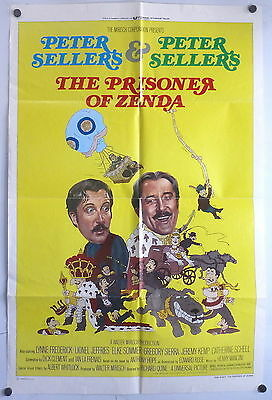 Peter Sellers The Prisoner of Zenda ORIGINAL 1970s 1 Sheet Movie Poster