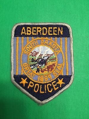 Aberdeen South Dakota  Police   Shoulder Patch  Old Used