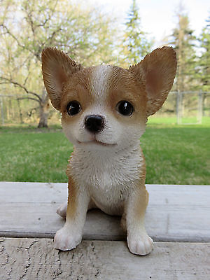 Chihuahua Dog Puppy Figurine Statue Resin Pet 65 H Canine Light