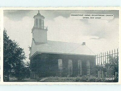 Unused Divided-Back CHURCH SCENE Union New Jersey NJ p4963