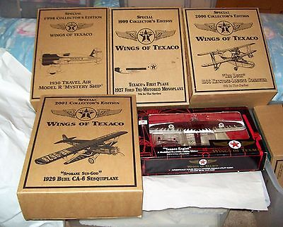 Wings of Texaco Airplane Banks/Special Editions/Lot of 5 - #5, 7, 8, 9, & 10