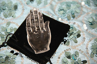 CRYSTAL HEALING HAND Reiki hand for healers meditation right hand crystal hand