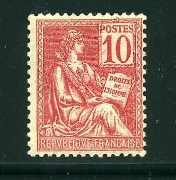 "FRANCE STAMP TIMBRE N° 116 "" MOUCHON 10c ROUGE "" NEUF xx TTB V117"