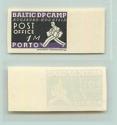 Lithuania, 1946, 1 m, MNH, imperf, DP Camp, Augsburg. f2641
