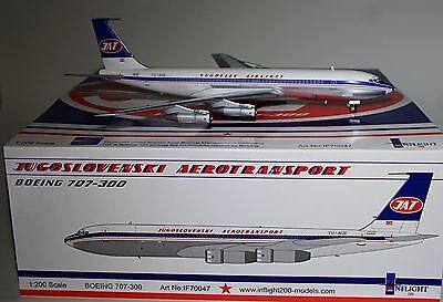 Inflight 200 IF70047 Boeing 707-340C JAT Yugoslavian Airlines  YU-AGE in 1:200