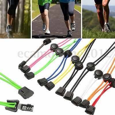 Elastic No-Tie Quick Lock Shoelaces Sport Running Jogging Shoes Laces String