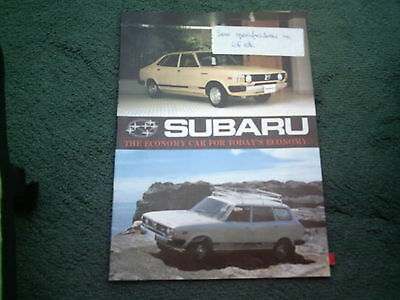 1979 Subaru 2Wd / 4Wd Mv + Coupe + Station Wagon + Sedan - English 8/78 Brochure