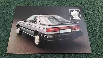 1987 / 1988 Silver Knight Nissan Sunny Coupe Bodystyling - Uk Post Card Brochure