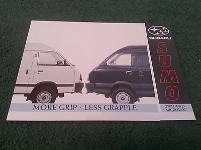 1987 1988 1989 Subaru Sumo 1.0 2Wd / 1.2 4Wd Micro Van - Uk Folder Brochure