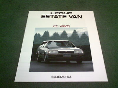 1987 SUBARU LEONE FF / 4WD ESTATE VAN - LARGE 8pg JAPANESE BROCHURE