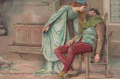Shakespeare The Fair Maid Of Perth & Henry Smith Ernest Nister Antique Postcard
