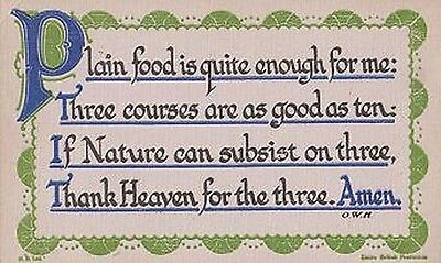 Grace Before Meals Poverty Third World Nature Gratitude Antique Proverb Postcard