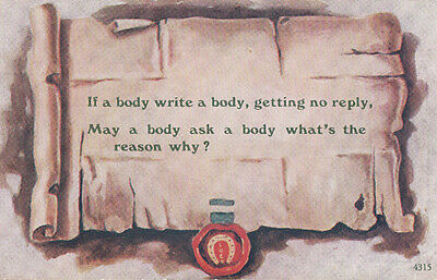 Writing A Letter To Your Body Proverb Talking To Yourself Old Comic Postcard