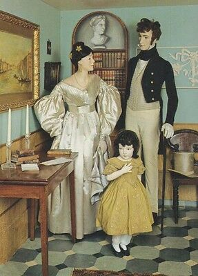 1835 Satin Wedding Dress Strapped Trousers Suit Victorian View Postcard Museum