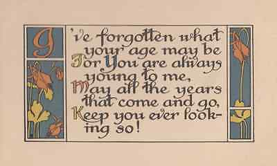 You Look So Youthful Young Antique Greetings Postcard