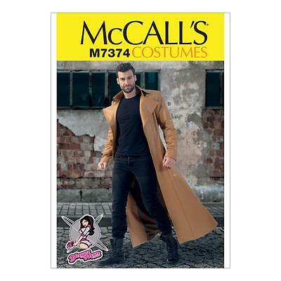 McCALL'S SEWING PATTERN YAYA HANS MENS COSTUMES COSPLAY DUSTER COAT 38-52 M7374