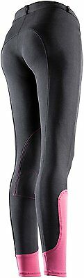 Equi-Theme Pro Fun Line Ladies Womens Breeches Stretch Material Two Tone Colour