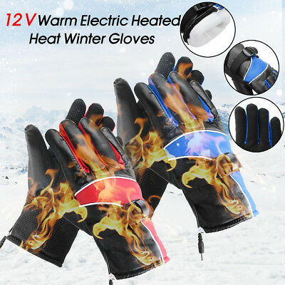 12V Motorcycle Bike Scooter Warm Electric Heated Warmer Winter Gloves Waterproof