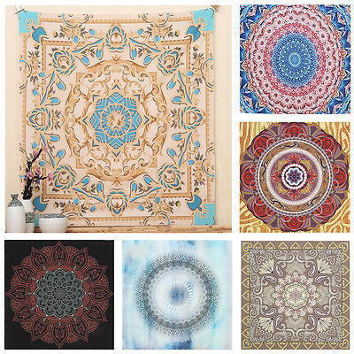 Indian Mandala Tapestry Hippie Wall Hanging Floral Bedspread Throw Yoga Mat