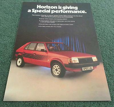 MINT May 1980 TALBOT HORIZON SPECIAL Special Edition UK BROCHURE