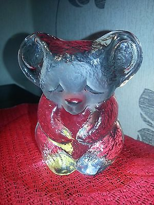 Mats Jonasson Kosta Boda Scandinavian Glass Koala Bear Paperweight Signed Vgc