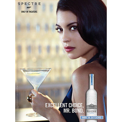 Belvedere /james Bond Poster  18 By 24. New Poster