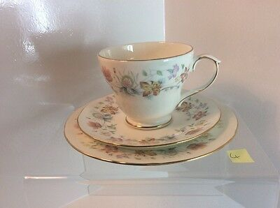 Duchess Bone China Cup, Saucer And Side Plate Trio With Evelyn Pattern
