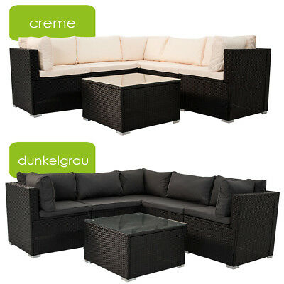 gartenm bel polyrattan lounge gartenset rattan sitzgruppe garnitur nassau neu eur 399 95. Black Bedroom Furniture Sets. Home Design Ideas