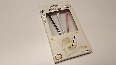 * NEW Official NINTENDO DS Stylus Pack * black, white & pink * Brand New