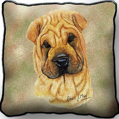 "17"" x 17"" Pillow - Shar Pei by Robert May 1173"