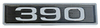 390 Mustang Black Chrome Plated Hood Scoop Adhesive Backed Emblem