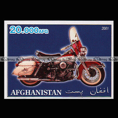 ★ HARLEY FLH 1200 ELECTRA GLIDE ★ AFGHANISTAN Timbre Moto Motorcycle Stamp #242