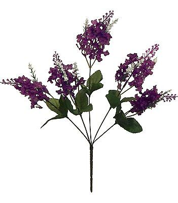 5 LILAC BLOOMS ~ PURPLE ~ Silk Wedding Flowers Bouquet Centerpieces Decorations
