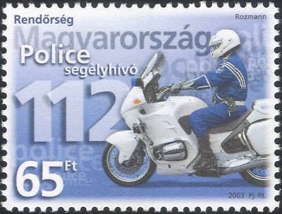 Hungary 2003 Police Day/Motorcycle/Motor Bike/Law/Order/Transport 1v (s4106)