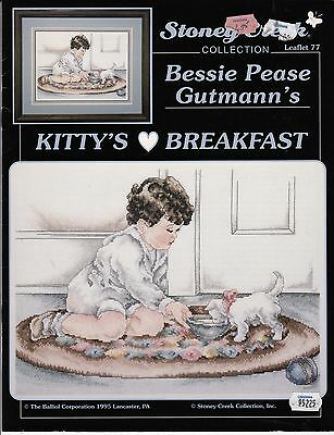 Kitty's Breakfast - Cross Stitch Instruction Booklet
