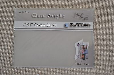 """Zutter Bind It All clear acrylic covers 3""""x4"""" mini books journal albums"""