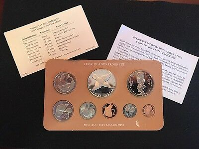 1976 Cook Islands 8 Coin Proof Set With Case