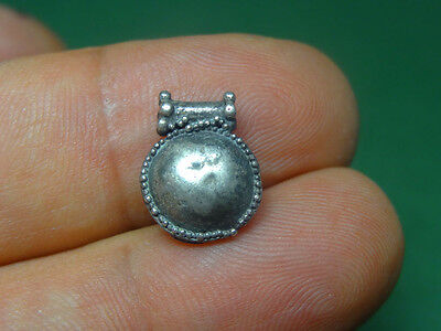 Ancient Silver Sun Disk Pendant Astrology Zodiac Sign Greco-Roman 200 Bc-100 Ad