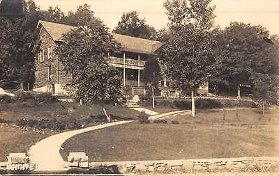 Hollister Missouri Log Cabin Hotel Real Photo Antique Postcard K51330