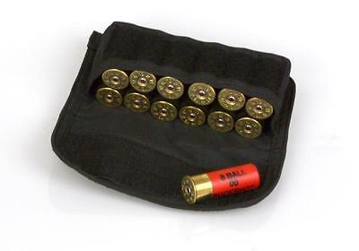 Wholesale Lot of 12 Black MOLLE Shotgun Shell Ammo Pouch, Holds 12 Rounds